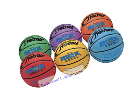 Sportime SportimeMax Basketballs - Junior Size, 27 Inch - Set of 6 Colors